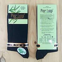 """Носки мужские высокие  """"Pier luigi"""" Турция 42-44р бамбук с лайкрой чёрные NMP-23122"""