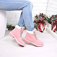 Ботинки женские Timbers розовые, ботинки зимние