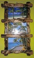 Рамка деревянная для 3-х фотографии, картины