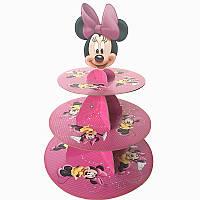 """Подставка под пирожные на детский праздник """"Минни Маус"""", 33 см"""