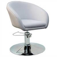 Кресло парикмахерское Мурат P, кожзам, цвет белый