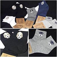 Стильные носочки для женщин, с собачками, разные расцветки, 35-38, 38-41 р-ры, 45/35 (цена за 1 шт. + 10 гр.)