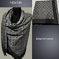 Платок F Луи Витон  145х145, шерсть+шелк. теплый. цв.1