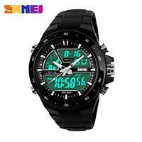 Оригинальные часы Skmei 1016 Black / Водостойкие, противоударные спортивные часы !