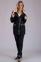 Куртка женская трикотажная Косуха (черная)