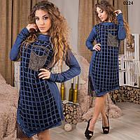 Платье турецкое варенка 02224 СВ
