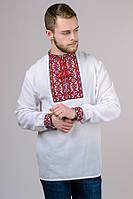 Вышиванка мужская Тарас (красный орнамент)