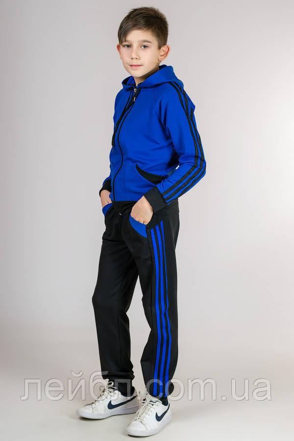 Детский спортивный костюм Комби-лампас (электрик)