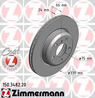 Гальмівний диск перед вентил BMW F10 20-30i/(330x2 Zimmermann 150348220 150.3482.20