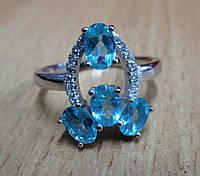 """Элегантное кольцо """"Спутник """" с  апатитом  , размер 19 от студии LadyStyle.Biz, фото 1"""