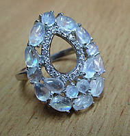"""Элегантное  кольцо с  лунным камнем """"Лунная петля"""" , размер 16,4  от студии LadyStyle.Biz, фото 1"""
