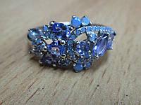 """Хорошенькое кольцо с танзанитами  и опалами """"Млечный путь"""" , размер 17,3 от студии LadyStyle.Biz, фото 1"""