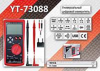 Мультиметр цифровой, 4 разряда, V, A, Ω, AC, DC, nF, hFE, TºC  YATO YT-73088