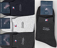 Носки мужские спортивные махровые х/б Tommy Hilfiger, средние, ассорти, 41-44 размер, 11106