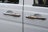 Хром накладки на дверные ручки (нерж.) на Mercedes Vito