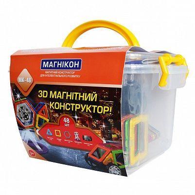 3-D магнитный конструктор МАГНІКОН в пластиковой коробке 48 дет. МАГНІКОН (МАГНИКОН) МК-48
