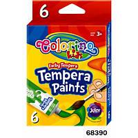 Краски Темпера в тубе 6 цветов Colorino