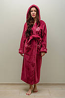 Халат женский длинный с капюшоном NS-3655 Nusa баклажан, M