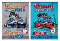 "Набор ""Street style"": картон цветной B5 двухсторонний (10 листов) + цветная бумага двухсторонняя (16 листов)"