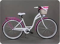 Велосипед женский городской прогулочный Goetze BLUEBERRY 28 3 передачи + корзина Польша