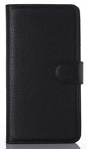 Кожаный чехол-книжка для Motorola Moto E3 Power черный