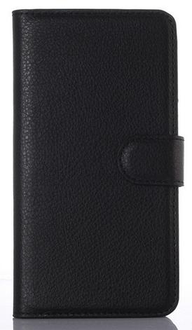 Кожаный чехол-книжка для Motorola Moto E3 Power черный, фото 2