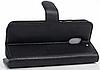 Кожаный чехол-книжка для Motorola Moto E3 Power черный, фото 4