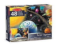 """Напольный пазл в коробке """"Солнечная система"""" для детей от 6 лет 60 x 90 см (48 эл.) ТМ Melissa & Doug MD10413"""