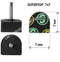 Набойки полиуретановые SUPERTOP, р. 7*7 мм, штырь 2.2 мм, цв. черный