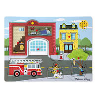 """Рамка-вкладыш звуковой пазл """"Пожарная часть"""" для детей от 2 лет /Around the Fire Station ТМ Melissa & Doug MD10736"""