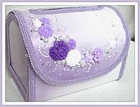 Сундук для денег фиолетовый с лепкой
