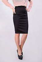 Стильная трикотажная юбка с молнией сзади