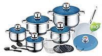 Кухонный набор кастрюль +керамическая сковородка +приборы Royalty Line