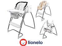 Детский стульчик для кормления и автоматическая качеля LIONELO MILAN