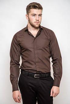 Рубашка 3215 (Темно-коричневый)