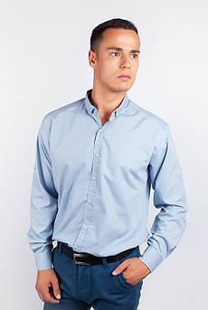 Рубашка с длинным рукавом однотонная №208F008 (Светло-серый)