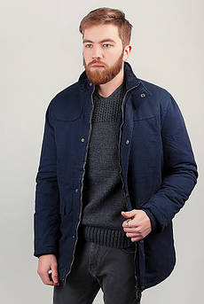 Куртка мужская теплая на меху №225KF095 (Синий)