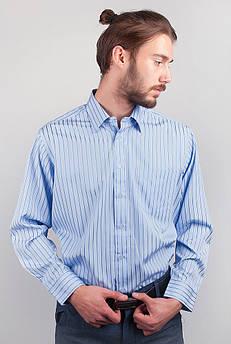 Рубашка голубая в полоску Fra №869-1 (Голубой)