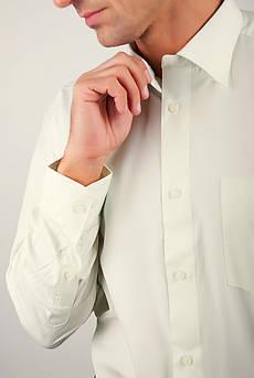Рубашка классическая светлая Fra №869-21 (Светло-оливковый)