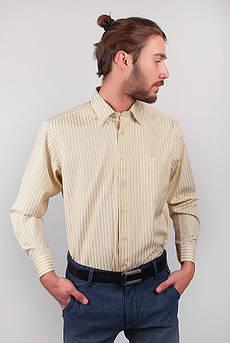 Рубашка желтая в полоску Fra №873-7 (Желтый)
