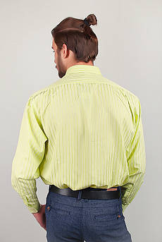 Рубашка мужская салатовая Fra №868-10 (Салатовый)