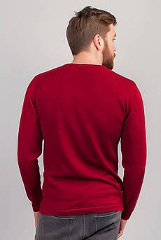 Батник мужской, свитер трикотажный тонкий №267F004 (Красный)