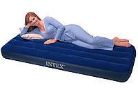 Одноместный надувной матрас Intex Classic Downy 76х191х22 см 68950