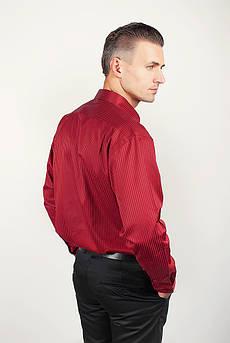 Рубашка атласная бордовая Fra №878-25 (Бордо)
