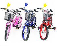 Детский велосипед для учения с боковыми колесами BMX Польша