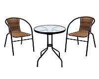Комплект садовый BISTRO журнальный столик + 2 стула