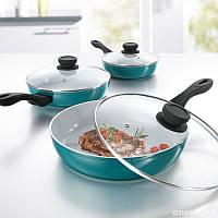 Набор сковородок с керамическим покрытием + титан bratmaxx