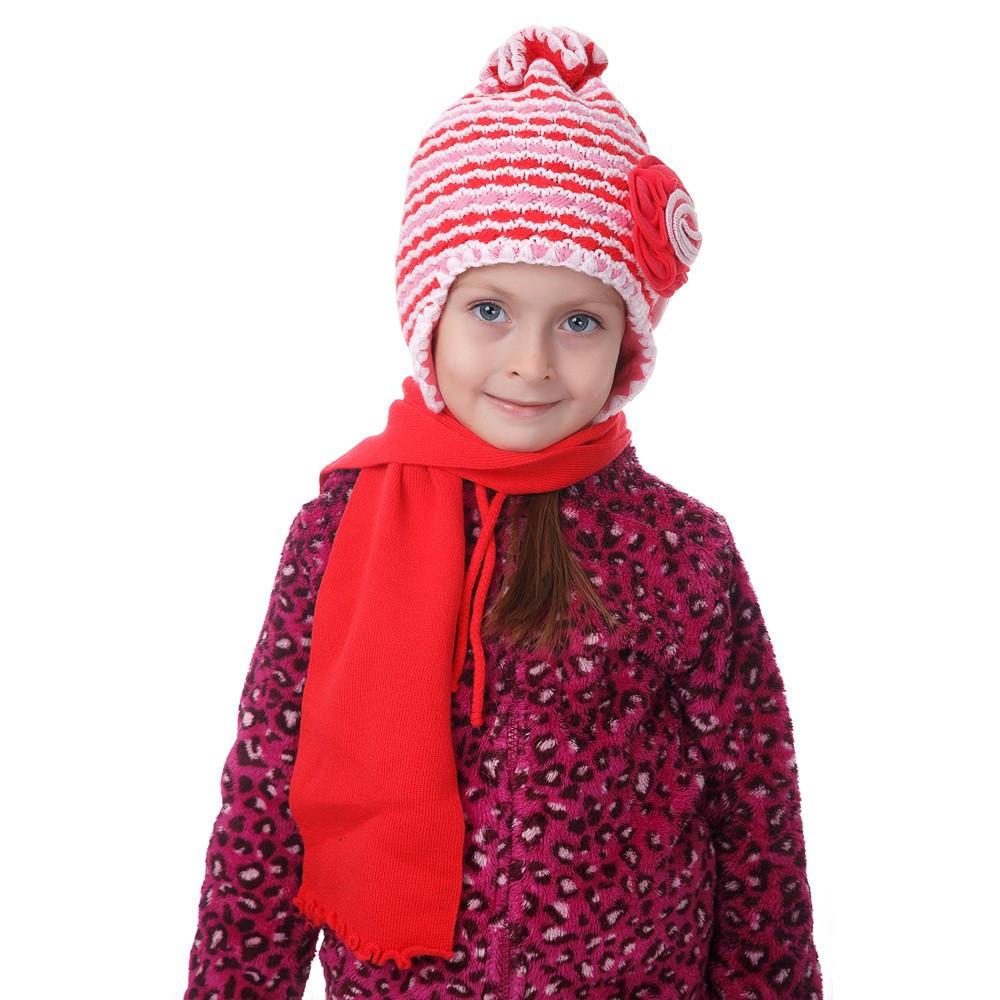Комплект детский шапка + шарф ассорти Grans 584 - Интернет-магазин  Optom7km.net в 160631caa3a61