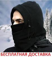 Маска для лица вело с затяжками флисовая лыжная мото баф балаклава зимняя непродуваемая бандана buff повязка