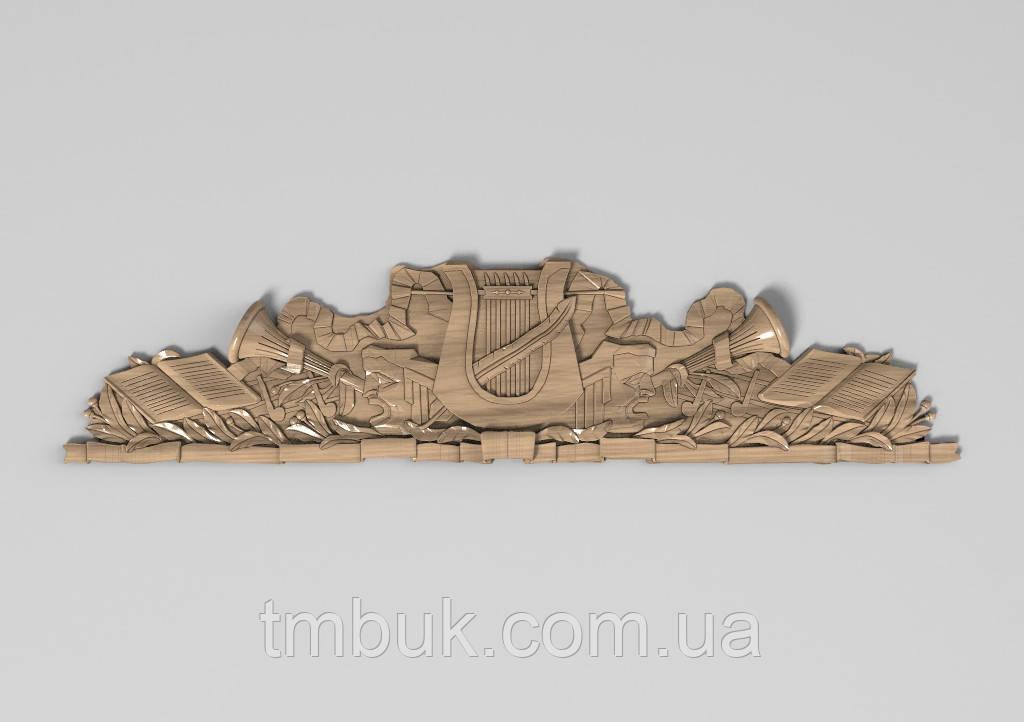 Горизонтальный декор 64 деревянная накладка - 800х185 мм